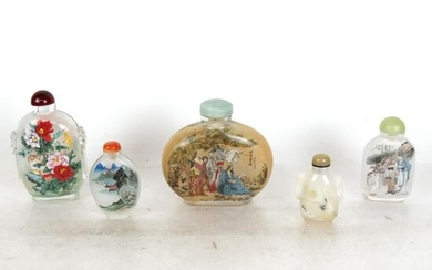 Five Chinese Snuff Bottles
