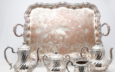 Gallia Metal silver-plated metal coffee and tea set, early 20th Century.