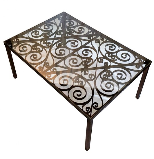 Glass and Iron Cocktails / Coffee Table