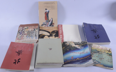 LARGE A Collection CATALOGS, a box, Japanese woodcuts etc.