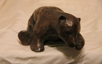 Le Cann (1969) - Sculpture - Listed bronze art - Teddy bear - Signed and Numbered 1/30 - Contemporary - Patinated bronze