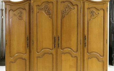 Light Oak Country French 5 Piece Bedroom Set