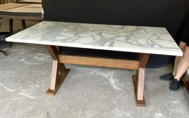 Marble Topped Dining Room Table