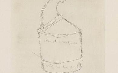 Marcel Duchamp, French/American 1887-1968- Pulled at Four Pins, 1964; etching on Magnani wove, signed and numbered 79/100 in pencil, published by Edizioni Galleria Schwarz, Milan, sheet 64.2 x 46.5cm (framed) (ARR)
