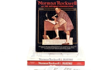 """""""Norman Rockwell and the Saturday Evening Post"""" Book Set, 1976"""