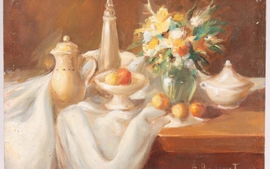 Oil on Board, 20th Century, Signed A. Bouquet