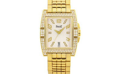 PIAGET, UPSTREAM, GOLD AND DIAMOND-SET WITH DATE
