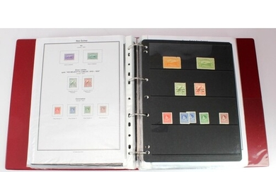 Papua & New Guinea in red binder, mint & used, old to modern...