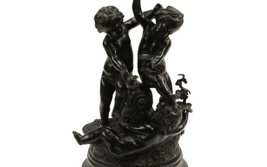 Patinated Bronze Figural Group After Clodion.