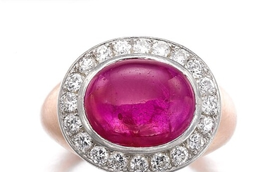 Ruby and diamond ring | 紅寶石配鑽石戒指, Ruby and diamond ring | 紅寶石配鑽石戒指