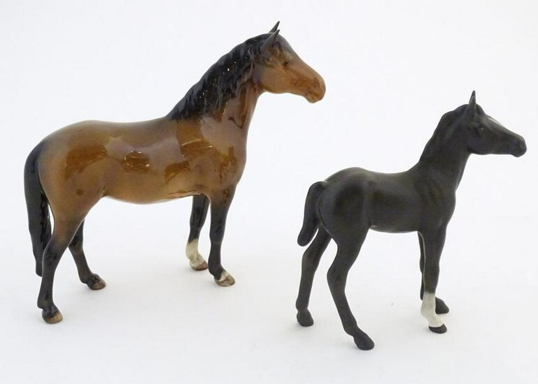 Two Beswick horses comprising New Forest Pony, model