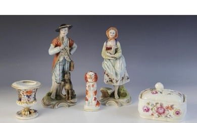 Two continental ceramic figures, late 19th/early 20th centur...