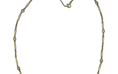 Vintage Cartier Yellow Gold and Diamond Chain Necklace