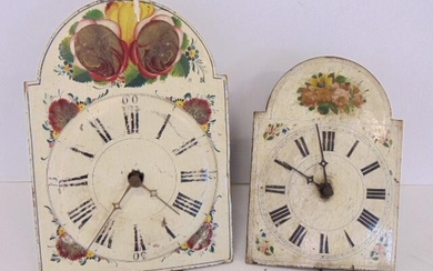 """2 Wag on wall clocks, Floral Patterns, 12"""" and 10"""""""