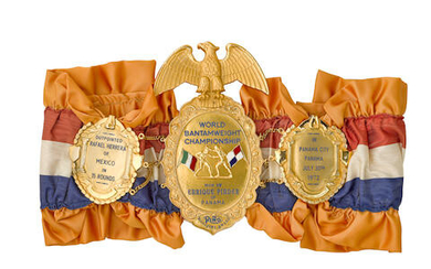 A 1972 ENRIQUE PENDER BANTAMWEIGHT CHAMPIONSHIP BELT COMMISSIONED BY THE RING MAGAZINE