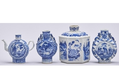 A Chinese blue and white wine pot, late 19th / early 20th c,...