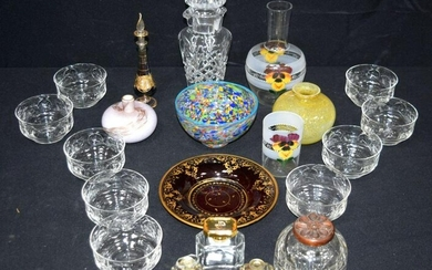 A collection of glass ware items (QTY).