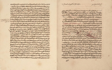 A collection of treaties on mathematics and astronomy, North Africa, 19th and 20th century, the first treaty titled Fan al-talaghub, dated 1322 AH/1904-5 AD, Arabic manuscript on paper, 26 lines to the page written in black Maghribi, with important...
