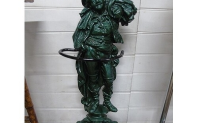 A quality cast iron umbrella stand (stamped reaper)