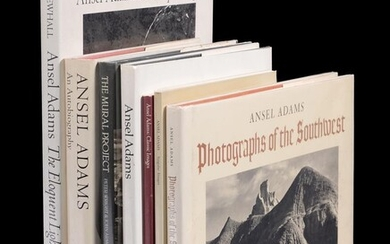 Ɵ ADAMS, Ansel. Books By and About: Seven volumes, three SIGNED by Ansel Adams. 1972-1989 (7)