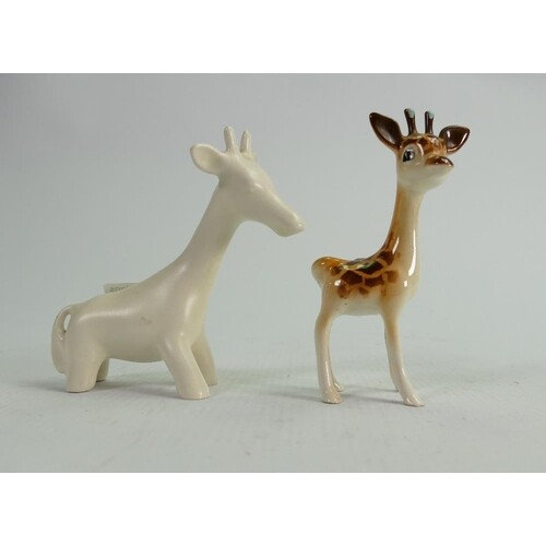 Beswick Giraffes: including 1597 and early cream model 698. ...