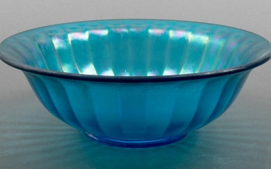Blue Fired Glass Bowl