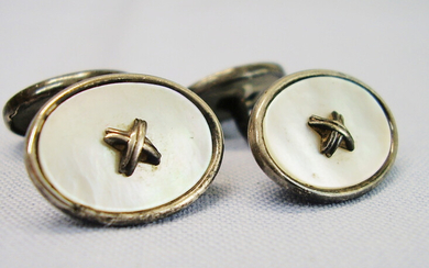 CUFFLINKS SILVER 835 MOTHER-OF-PEARL.
