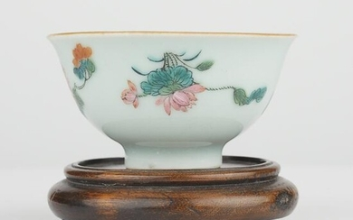 Chinese 19th c. Famille Rose Porcelain Wine Cup
