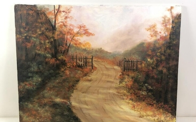 """Christa"" Autumn Landscape Painting"