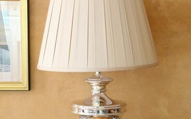 Contemporary Chrome Urn Shaped Table Lamp