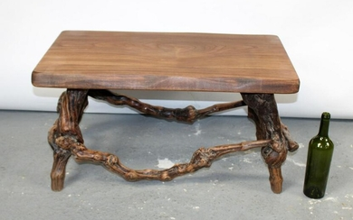 French burled grape vine bench or coffee table