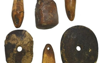 Group of 8 Inuit Artifacts: Point Scabbards, Net