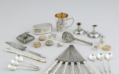 Group of Mainly Continental Silver, 19th/20th century