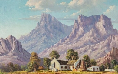 Guiseppe Catty (South Africa 1914 - 1994): FARMHOUSE WTH MOU...