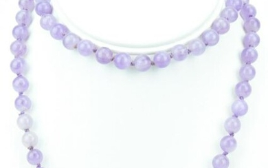 Hand Knotted 6MM Amethyst Necklace Strand