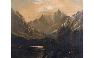 Horace Belton (19th Century) British. A Mountainous River La...
