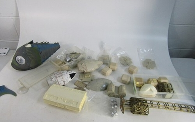 Large lot of Gerry Anderson related resin model spares Space...