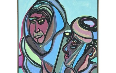 Mixed Media, Two Figures