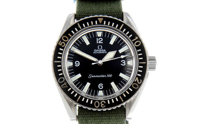 OMEGA - a gentleman's stainless steel military issue Seamaster 300 wrist watch.
