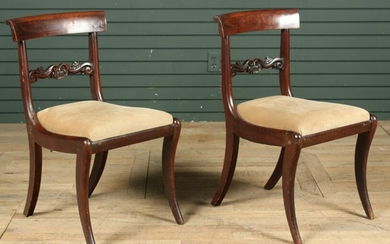 Pair American Empire Style Side Chairs