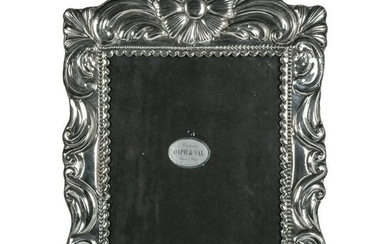 """Sterling Silver Peruvian 8x10"""" Photo Picture Frame"""