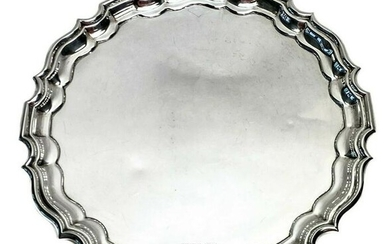 Walker & Hall English Sterling Silver Footed Salver