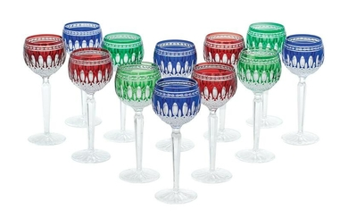 12 Waterford Clarendon Cut Glass Wine Glasses
