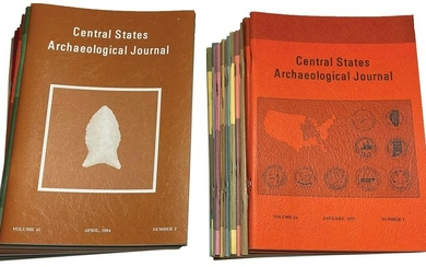 50 Issues of Central States Archaeological Journals.