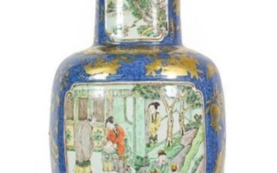 A Chinese Porcelain Rouleau Vase, Xuande reign mark but not...