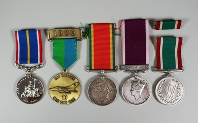 A Collection of Military and Commemorative Medals, including the...