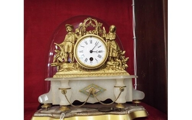 A French gilt and ormolu time-piece the drum barrel clock ha...