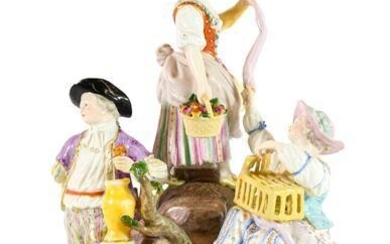 A Meissen Porcelain Figure Group, circa 1900, modelled as two...