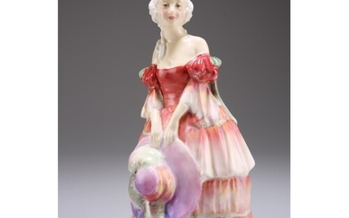 """A ROYAL DOULTON FIGURE, """"VERONICA"""", HN 1517, green painted a..."""