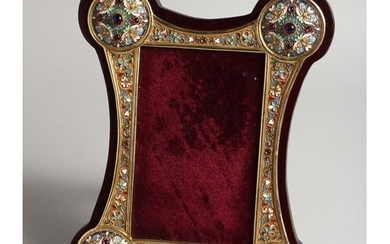 A VERY GOOD RUSSIAN SILVER AND ENAMEL PHOTOGRAPH FRAME 9ins ...